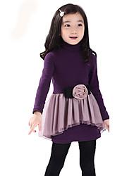 cheap -Children Kids Girls Cotton Long Sleeve 3-7 Years Velvet Princess Dress Clothes
