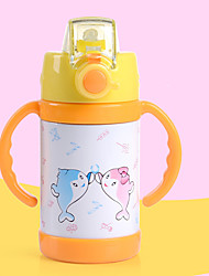 High Quality Kids Water Bottle Thermos Mug Lovely Stainless Steel Vacuum Cup For Kids With Straw 260Ml