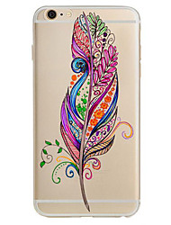 abordables -Para Ultrafina Diseños Funda Cubierta Trasera Funda Pluma Suave TPU para Apple iPhone 7 Plus iPhone 7 iPhone 6s Plus/6 Plus iPhone 6s/6