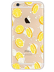 cheap -For Apple iPhone 7 7Plus 6S 6Plus Case Cover Lemon Pattern HD TPU Phone Shell Material Phone Case