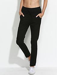 levne -Dámské Lehce elastické Upnuté Džíny Kalhoty Low Rise Bavlna Polyester Jednobarevné Jaro Léto Podzim