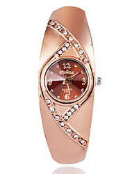 Women's Fashion Watch Wrist watch Quartz / Imitation Diamond Rose Gold Plated Alloy Band Casual Elegant Brown Rose Gold