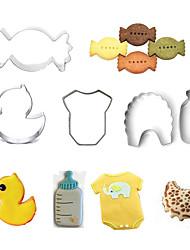 preiswerte -Backwerkzeuge Edelstahl Heimwerken Kuchen / Plätzchen / Obstkuchen Cartoon Shaped / Tier Backform 5 Stück