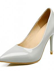 cheap -Women's Heels Spring Fall Comfort Leatherette Office & Career Party & Evening Dress Stiletto Heel Black Blue Gray Beige