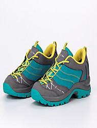 Feminino-Tênis-Conforto-Salto Baixo-Cinzento Claro Azul-Couro Tule Microfibra-Ar-Livre Para Esporte