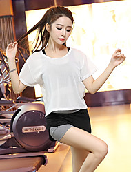 Women's Tracksuit Short Sleeves Quick Dry Breathable Sports Bra T-shirt Shorts Top Clothing Suits for Yoga Exercise & Fitness Running