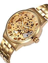 Pánské Módní hodinky Náramkové hodinky mechanické hodinky Automatické natahování S dutým gravírováním Slitina Kapela Běžné nošení