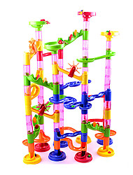 cheap -Building Blocks Board Game Marble Track Set Marble Run Toys Novelty Cylindrical ABS High Quality 105 Pieces Boys' Girls' Christmas New
