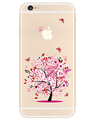 cheap -Case For Apple iPhone X iPhone 8 Plus iPhone 5 Case iPhone 6 iPhone 7 Pattern Back Cover Tree Soft TPU for iPhone X iPhone 8 Plus iPhone