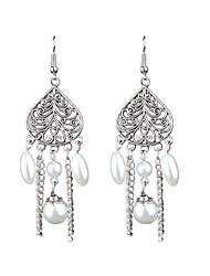billige -retro mode folk stil lang kæde perle øreringe elegant stil