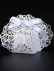 cheap -50pcs Laser Cut Flower Wedding Favor Box Candy Box Gift Box Wedding Party Supplies