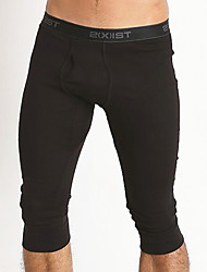 cheap -Men's Long Johns Solid Colored Mid Rise
