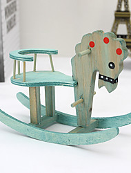 Nordic Style Wooden Horse Craft Furnishing Articles Home Decoration Creative Figurines Auspicious Gifts
