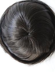 uomini toupee dei capelli umani dei capelli vergini diritto naturale 6 * 8 pollici