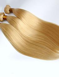 billige -3 Bundler Brasiliansk hår Lige Jomfruhår Menneskehår, Bølget Menneskehår Vævninger Menneskehår Extensions / Ret