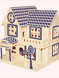 cheap -Wooden Puzzles Famous buildings Chinese Architecture House Professional Level Wood Christmas Carnival Birthday Girls' Gift