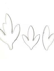 cheap -New Arrival 3pcs/set Fondant Cake Decoration Floral Petal Stainless Steel Peony Leaves Cutters Set Sugar Clay Biscuit Mold Cake Decorating Tools DIY