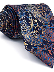B26 Men Neckties Navy Blue Paisley 100% Silk Business New Fashion Wedding Dress For Men
