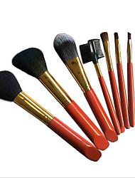7 Contour Brush Blush Brush Eyeshadow Brush Lip Brush Brow Brush Concealer Brush Powder Brush Foundation BrushHorse Goat Hair Synthetic
