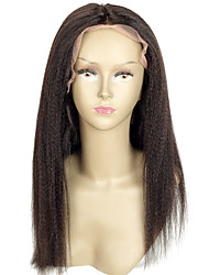 Straight 150% Density 8A Lace Front Human Hair Wigs Peruvian Virgin Hair Front Lace Wigs  Yaki Lace Human Hair Wigs and Natural Hairline