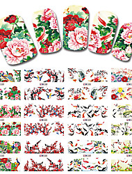 cheap -12 Designs/Sets Nail Sticker Chinese New Year Theme Pattern Watermark Tips Nails Decals Full Nail Art Tools BN529-540