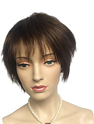 cheap -Short Women's Wig Light Brown Synthetic Fiber Cute Fashion Women's Party Wig With Bangs