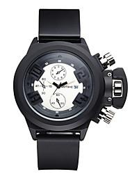 levne -ASJ Pánské Náramkové hodinky Sportovní hodinky Módní hodinky japonština Křemenný Voděodolné Silikon Kapela Přívěšky Na běžné nošení Cool