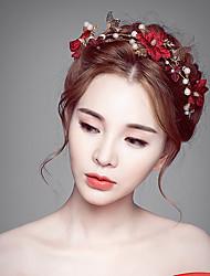 stof legering blomster hovedstykke bryllupsfest elegante feminine stil