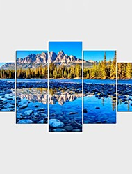 Stretched Canvas Print Landscape Leisure Pastoral,Five Panels Canvas Any Shape Print Wall Decor For Home Decoration