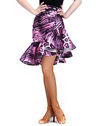 economico -Balli latino-americani Pantaloni Per donna Addestramento Elastene Velluto 1 pezzo Naturale Gonna