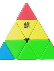 cheap -Rubik's Cube YongJun MoYu Pyramid 3*3*3 Smooth Speed Cube Magic Cube Puzzle Cube Professional Level Smooth Colorful ABS New Year