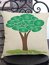 1 pcs Innovation tree printing Linen Pillow Case Animal Print Modern/Contemporary