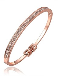 cheap -Bangles Cuff Bracelet Vintage Bohemian Friendship Hip-Hop Fashion Punk Rose Gold Zircon Imitation Diamond Rose Gold Plated Alloy Circle