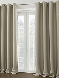 Two Panels Curtain Modern , Solid Living Room Polyester Material Blackout Curtains Drapes Home Decoration For Window
