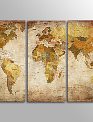 cheap -Traditional,Three Panels Canvas Horizontal Print Wall Decor For Home Decoration