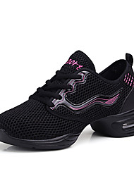cheap -Women's Jazz Shoes / Dance Sneakers / Modern Shoes Cotton Sneaker Indoor / Performance / Outdoor Chunky Heel Non Customizable Dance Shoes