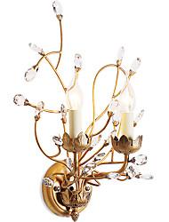 lightmyself 2 luzes ouro luzes de parede / / classic recurso e12 e14 moderna contemporânea tradicional rústico país / lodge a pintura por