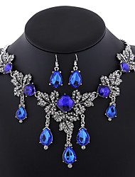 cheap -Women's Jewelry Set AAA Cubic Zirconia Luxury Fashion European Statement Jewelry Daily Synthetic Gemstones Alloy Drop 1 Necklace 1 Pair
