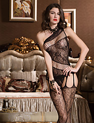 cheap -SKLV Women Nylon Cut Out Sheer Gartered Lingerie/Lace Lingerie/Ultra Sexy/Teddy Nightwear