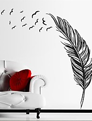 1Pcs Flying Feather Living Room Wall Sticker Home Decor Parede Home Decoration Wallpaper Wall Sticker Living Room Decor