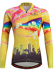 cheap -Sports Cycling Jersey Women's Long Sleeve BikeBreathable Quick Dry Moisture Permeability Front Zipper Reflective Strips Sweat-wicking