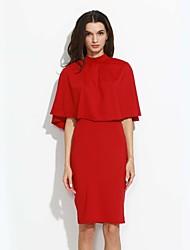 abordables -Mujer Camiseta - Geométrico, Espalda al Aire Falda