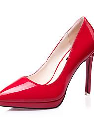 Women's Heels Spring Summer Fall Winter PU Wedding Office & Career Dress Party & Evening Stiletto HeelWhite Black Purple Red Blushing