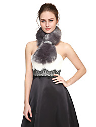Women's Wrap Scarves Faux Fur Sequined Wedding Party/Evening Sequin