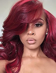 cheap -Synthetic Lace Front Wig Loose Wave Natural Hairline Red Women's Lace Front Natural Wigs Synthetic Hair