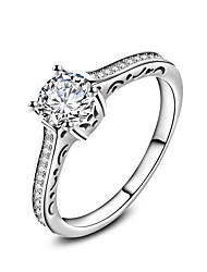billige -Dame Band Ring Ring Forlovelsesring - Sølv, Zirkonium Mode 6 / 7 / 8 / 9 / 10 Hvid Til Bryllup Fest Speciel Lejlighed