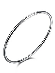 cheap -Men's Silver Plated Bangles - Classic Vintage Bohemian Circle Irregular Silver Bracelet For Christmas Gifts Anniversary Birthday