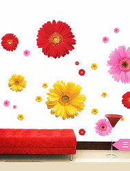 1Pcs  Daisy Flower Living Room Vinyl 3D Wall Stickers Window Decor Bedroom Wall Decals Sticker To The Kitchen On The Door