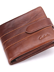 cheap -Men's Bags Cowhide Bi-fold Wallet Ruffles for Shopping Casual Office & Career All Seasons Brown