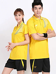 cheap -Unisex Short Sleeve Sport Clothing Suit Breathable / Comfortable Badminton / Stretchy